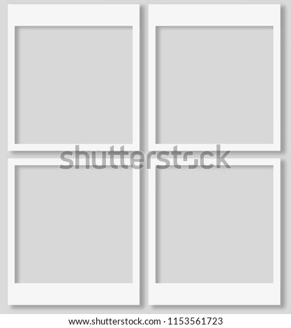 Polaroid Photo Frames Isolated on background. Polaroid Vector EPS 10.