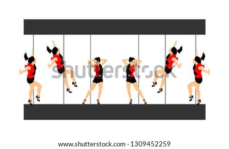 bc1186e1d Sexy pole dancer - Download Free Vector Art