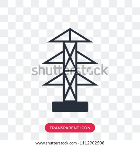 pole vector icon isolated on