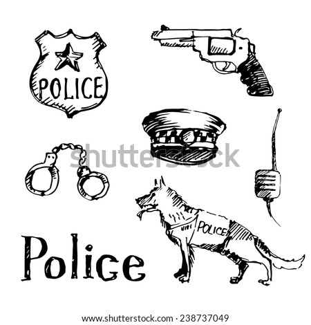 police and criminal icons
