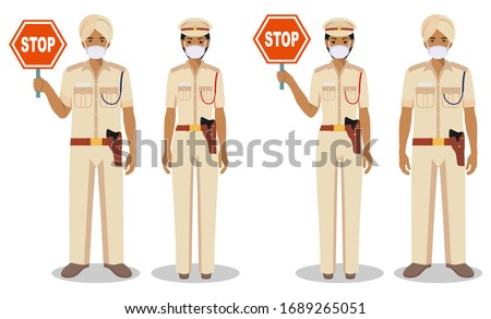 police and quarantine concept