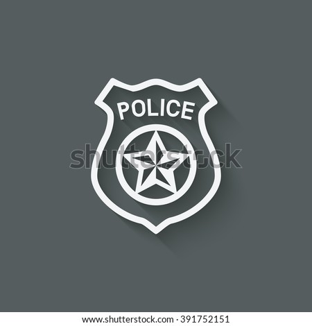 police badge symbol - vector illustration. eps 10