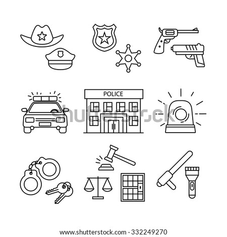 police building  car  court and