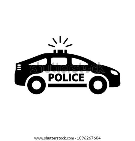 Police car icon. Vector.