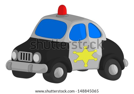 Police Car isolated on a white background.