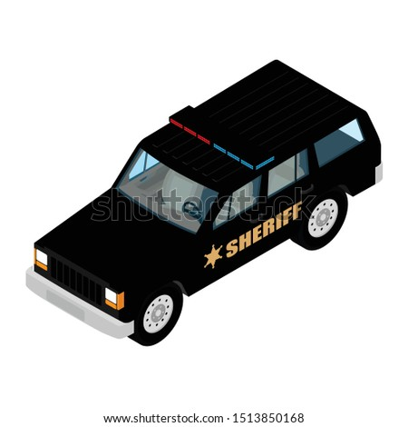 police car isometric view