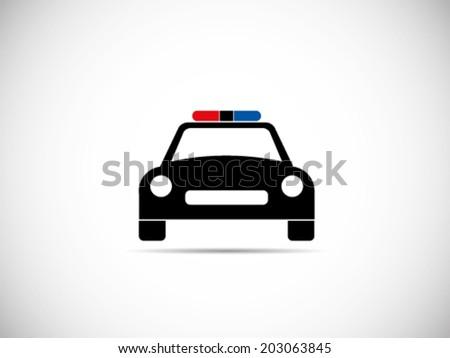 Police Car Symbol Stock Vector Illustration 203063845 ...