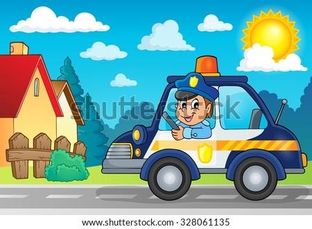 police car theme image 3