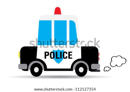 police car vector illustration
