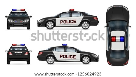 police car vector mockup on
