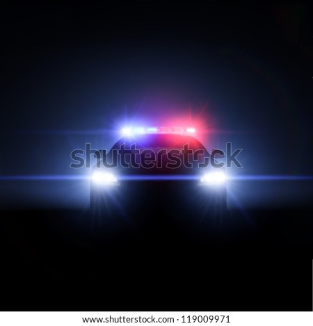 Police car with full array of lights and tactical lights. 3d render