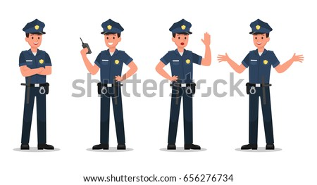police character vector design