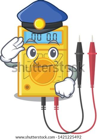 police digital multimeter in