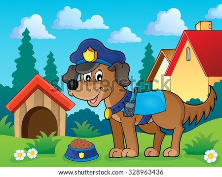 police dog theme image 2