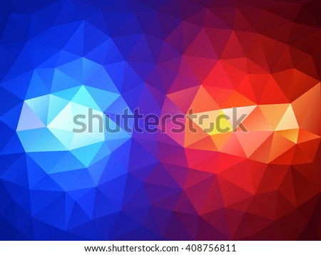 Police flasher lights red and blue abstract background