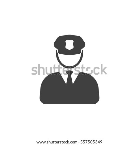 Police Icon vector on the white background