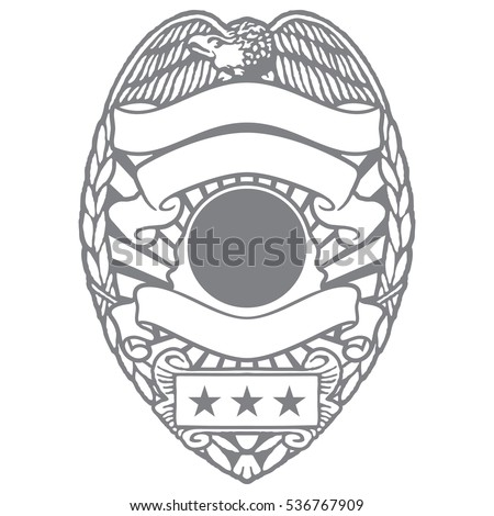 Police Officer Sheriff Department Badge with Eagle