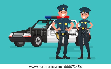 police officers man and woman