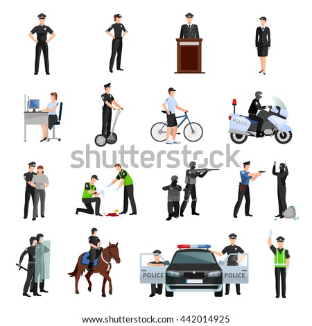 police people in office and