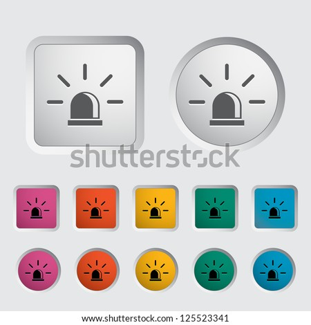 Police single icon. Vector illustration.