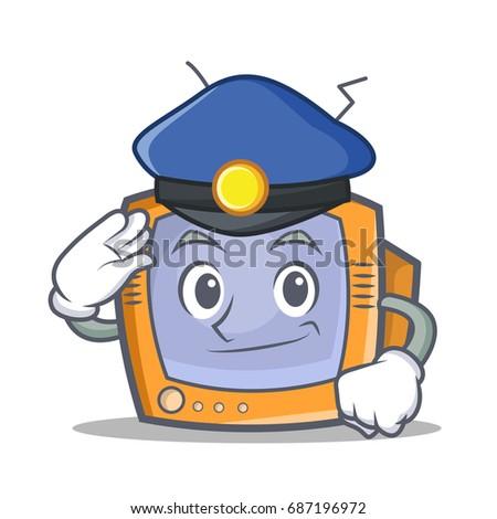 police tv character cartoon