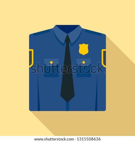 Police uniform icon. Flat illustration of police uniform vector icon for web design