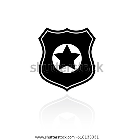 Police vector symbol isolated on white background