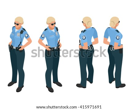 police woman in uniform police