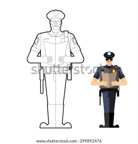 policeman coloring book police