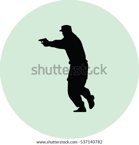 policeman with a gun