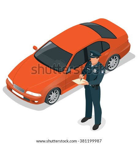policeman writing speeding