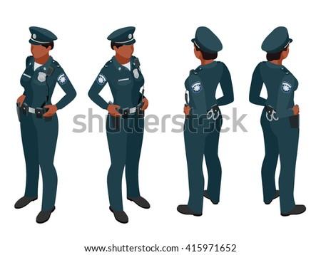 policewoman in uniform