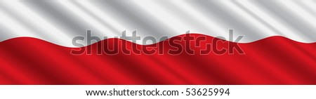 polish flag in the wind