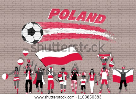 polish football fans cheering