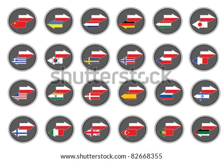 Polish translation - stock vector
