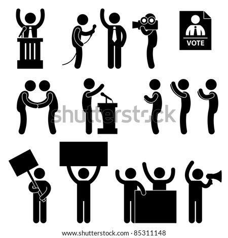 Politic Politician Reporter Journalist Vote Speech Supporter Citizen Unhappy Protester Election Campaign