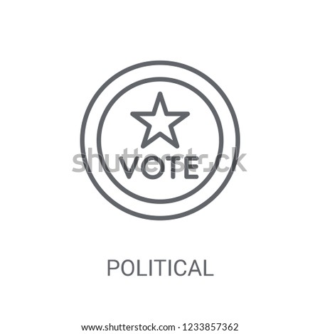 Political american elections publicity badge icon. Trendy Political american elections publicity badge logo concept on white background from Political collection. Suitable for use on web apps,