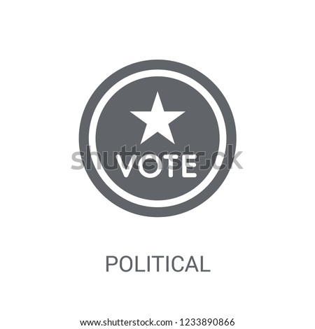 Political american elections publicity badge icon. Trendy Political american elections publicity badge logo concept on white background from Political collection. Suitable for use on web apps, mobile