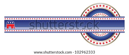 Political Label Republican Banner is an illustration of label with political theme of Republican that can be used with your own custom text and colors.