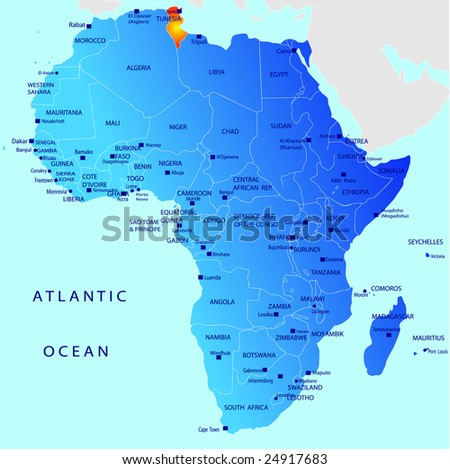 Political Map Of Africa Blank. stock vector : Political map