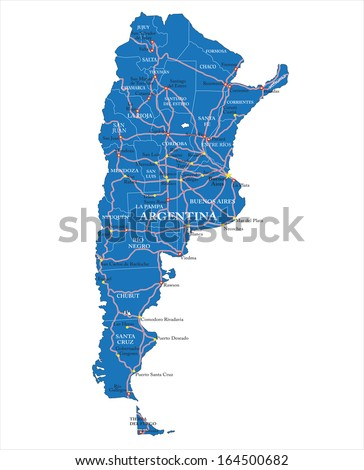 StockShutter Argentina - Argentina landmarks map