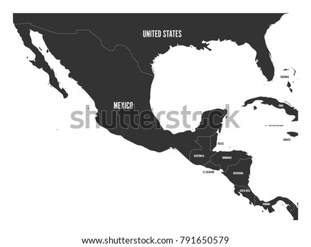 Flat Central America Map - Download Free Vector Art, Stock Graphics ...