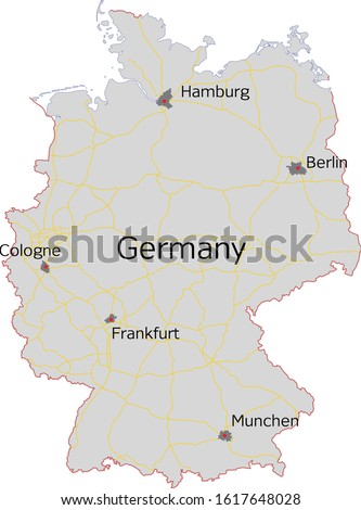 political map of germany with