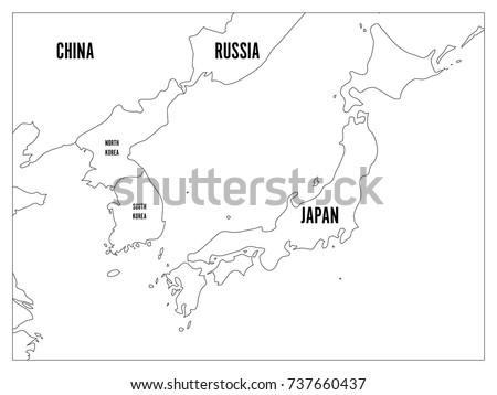 Japanese Map Vector Download Free Vector Art Stock Graphics - Japan map black and white