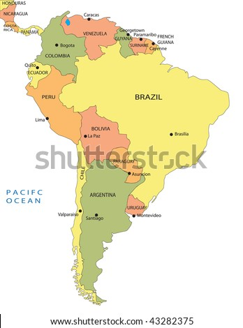 map of south american capitals. house capitals in south