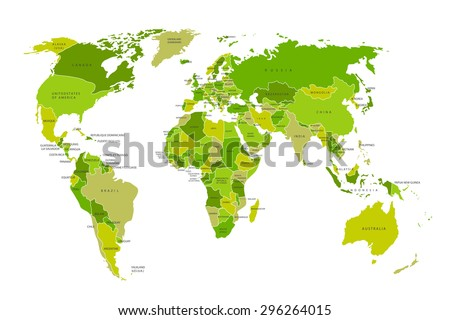 World Countries Map Vector Download Free Vector Art Stock - Earth map countries