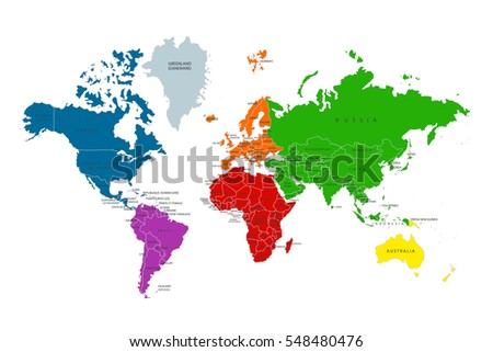 World countries map vector download free vector art stock political map of the world colorful world map countries vector illustration gumiabroncs Gallery