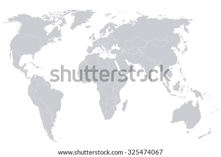Mapa del mundo de los pases vectoriales descargue grficos y political map of the world gray world map countries vector illustration gumiabroncs Choice Image