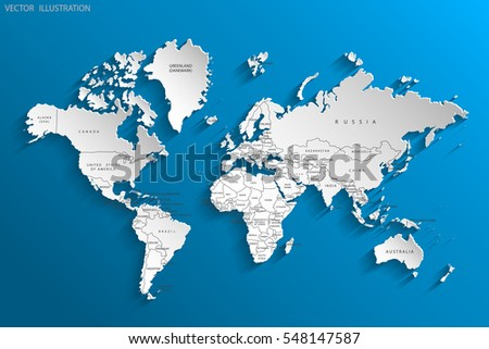Vector Maps Of Europe - Map of country