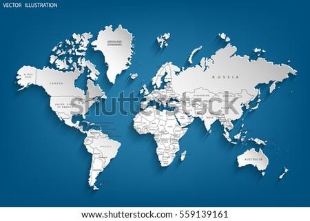 Mapa del vector de frica del sur descargue grficos y vectores gratis political map of the world gray world map countries vector illustration gumiabroncs Choice Image